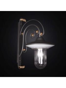 Applique in ferro battuto forgiato foglia oro 1 luce BGA 2610/A25A