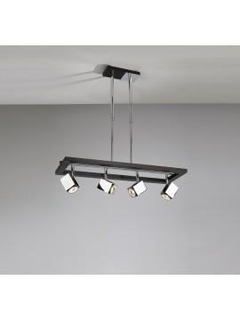 Lampadario moderno 4 luci legno wengè tpl 1020-s4