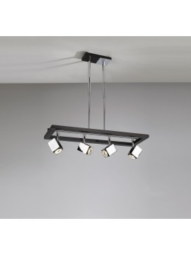 Modern chandelier 4 lights wenge wood tpl 1020-s4
