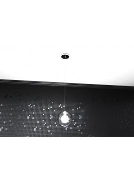 Lampadario 1 luce moderno cromato tpl1098-s1bi