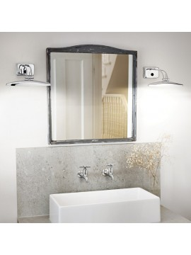 Applique moderno a 2 luci Mirror 20 cromato