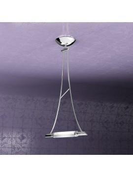 Lampadario moderno 1 luce regolabile tpl 1012-s1cr