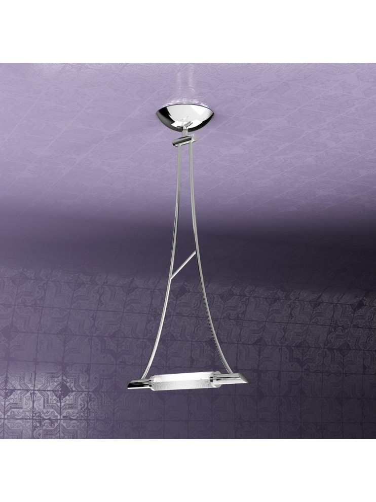 Modern chandelier 1 light adjustable tpl 1012-s1cr