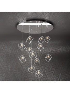 Lampadario moderno 12 luci design tpl 1125-s12