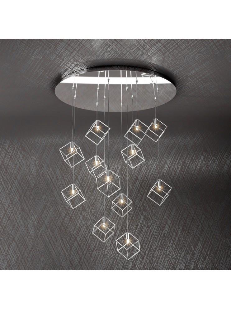 Modern chandelier 12 lights tpl design 1125-s12