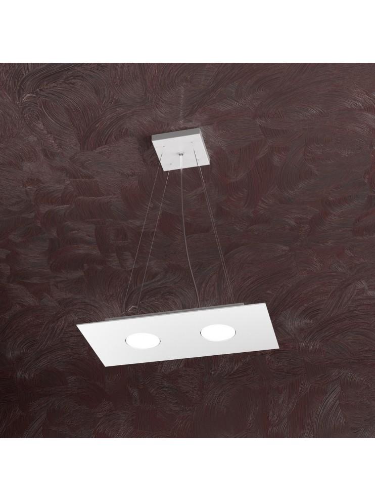 Modern chandelier 2 lights white design tpl 1127-s2r