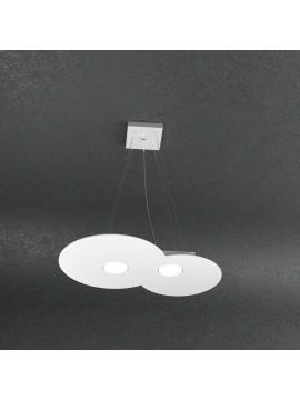 Lampadario moderno 2 luci design tpl 1128-s2r