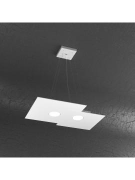 Modern chandelier 2 lights tpl design 1129-s2r white