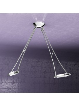 Lampadario moderno 2 luci regolabile tpl 1012-s2cr