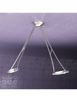 Modern chandelier 2 lights adjustable nickel tpl 1012-s2ns