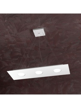 Lampadario moderno 3 luci design bianco tpl 1127-s3r