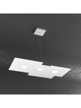 Lampadario moderno 3 luci design bianco tpl 1129-s3r