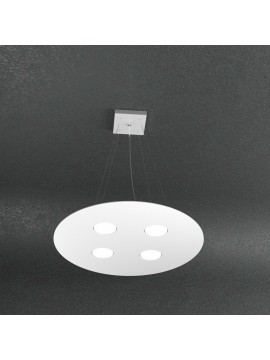 Lampadario moderno 4 luci design bianco tpl 1128-s4t