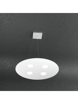 Modern chandelier 4 lights white design tpl 1128-s4t