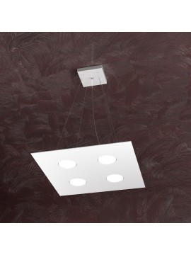 Modern chandelier 4 lights white design tpl 1127-s4