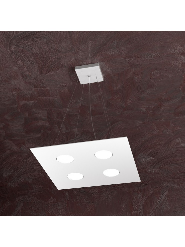 Lampadario moderno 4 luci design bianco tpl 1127-s4