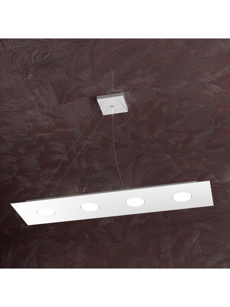 Modern chandelier 4 lights white design tpl 1127-s4r