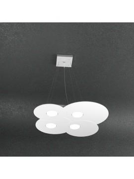 Lampadario moderno 4 luci design bianco tpl 1128-s4