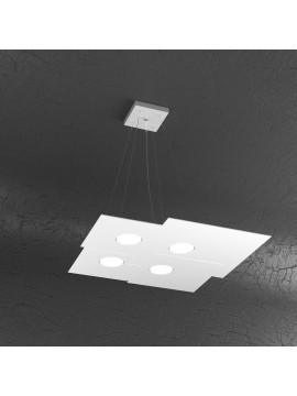 Modern chandelier 4 lights white design tpl 1129-s4