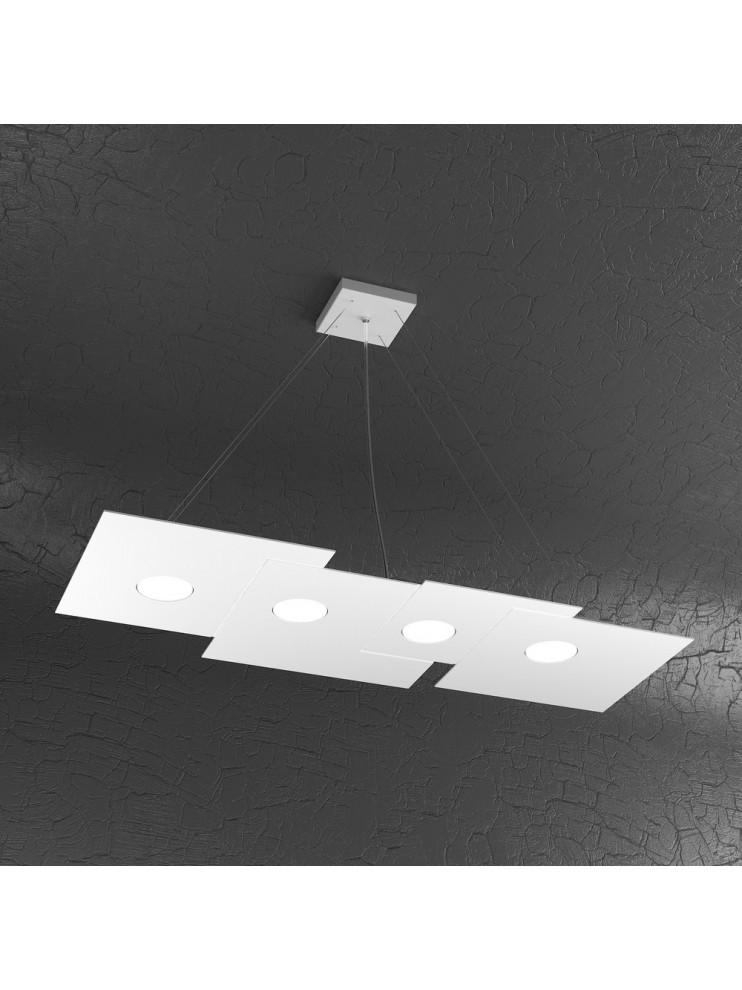 Modern chandelier 4 lights white design tpl 1129-s4r