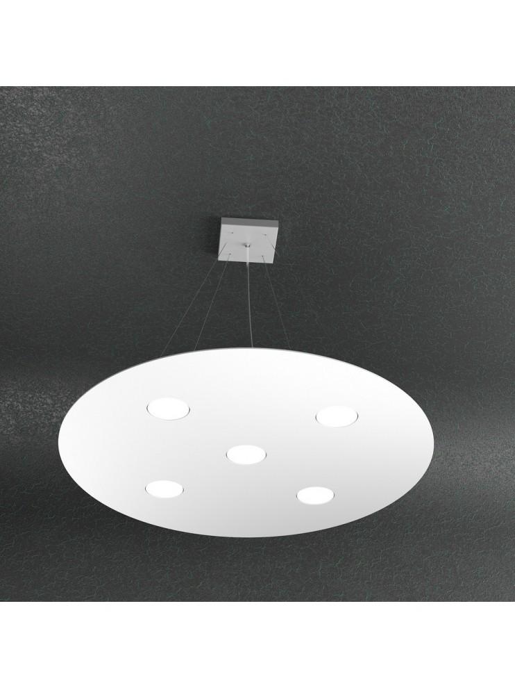 Lampadario moderno 5 luci design bianco tpl 1128-s5t