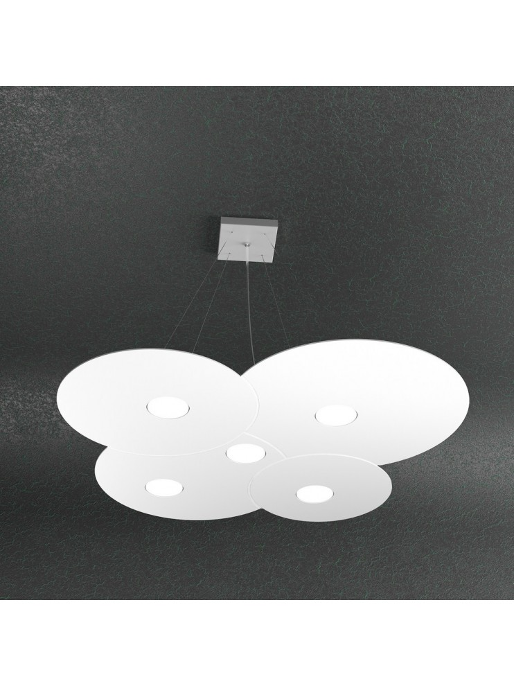 Modern chandelier 5 lights white design tpl 1128-s5