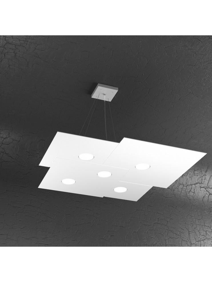 Modern chandelier 5 lights white design tpl 1129-s5