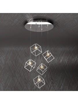 Lampadario moderno 5 luci design tpl 1125-s5