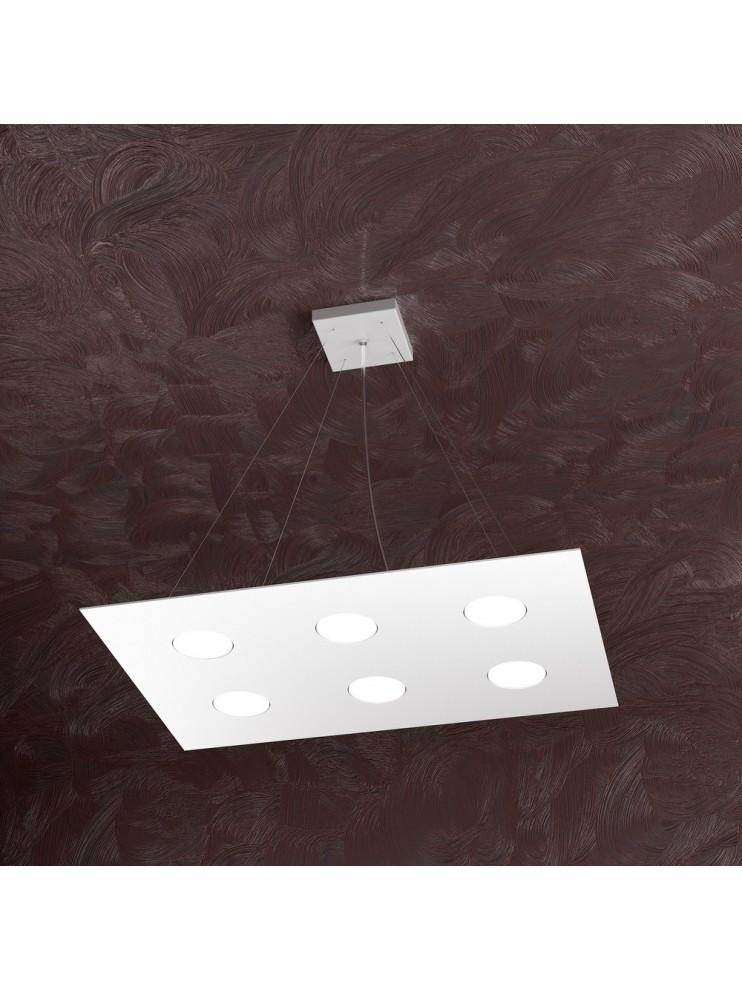 Modern chandelier 6 lights white design tpl 1127-s6r