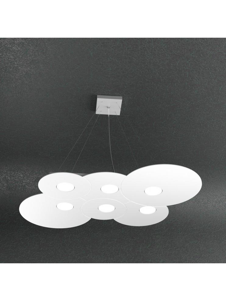 Lampadario moderno 6 luci designo tpl 1128-56r