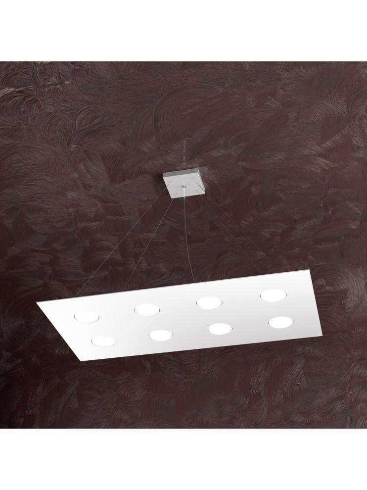 Lampadario moderno 8 luci design bianco tpl 1127-s8r