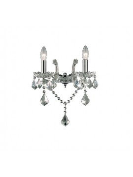 Contemporary wall lamp 2 lights Florian crystal chrome