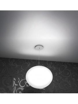 Lampadario moderno bianco 1 luce tpl 1092-s45