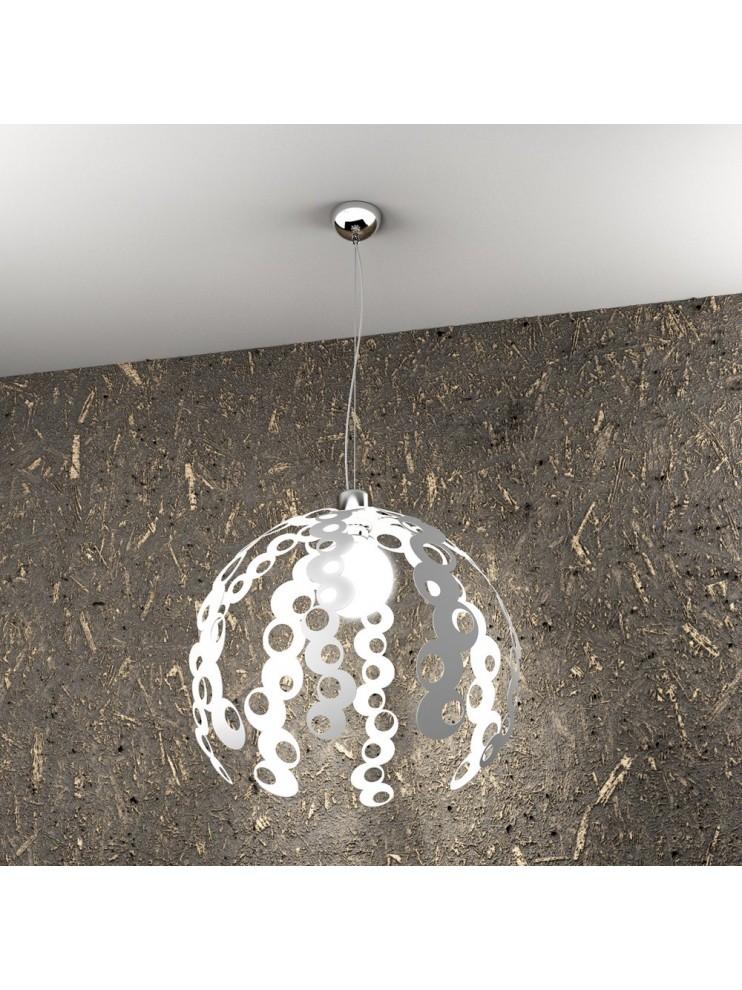 Lampadario moderno 1 luce bianco tpl 1118/s-bi