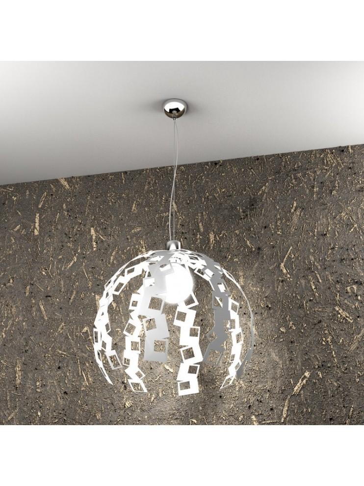 Lampadario moderno 1 luce bianco tpl 1119/s-bi