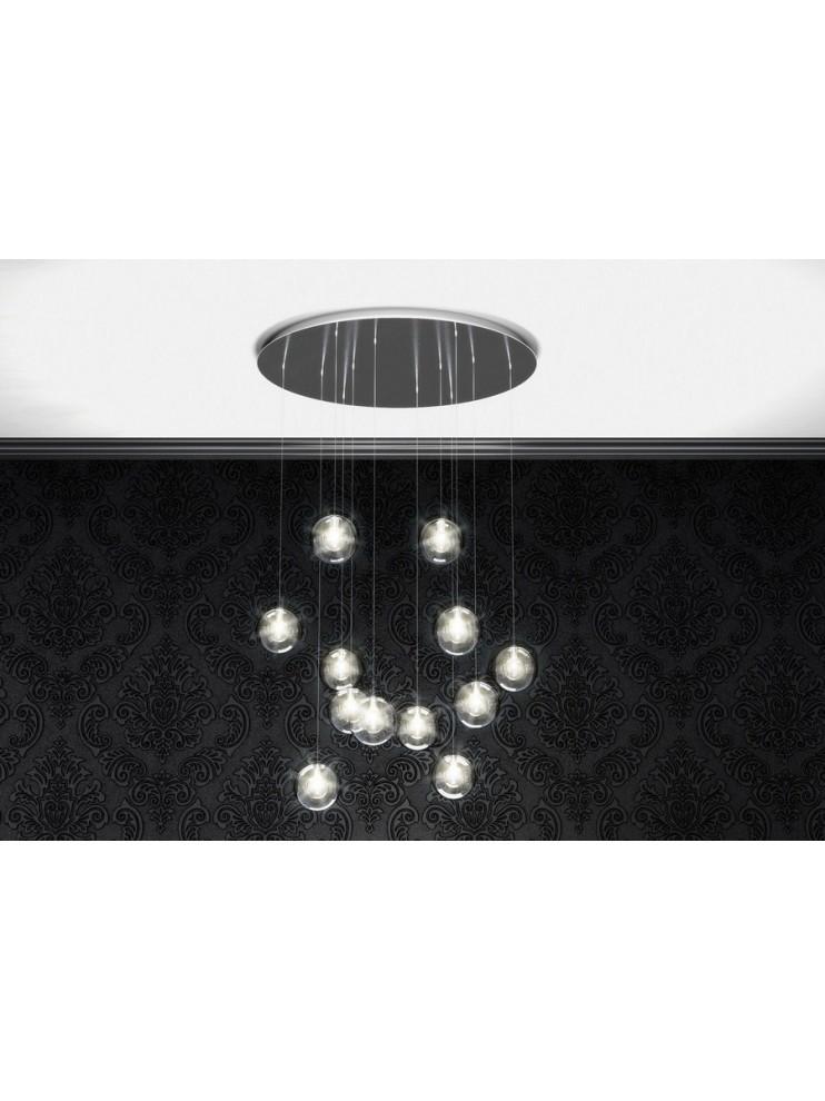 Modern glass chandelier 12 lights tpl 1098-s12tr