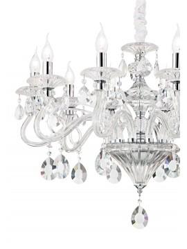 Lampadario cristallo contemporaneo 10 luci Negresco cromo