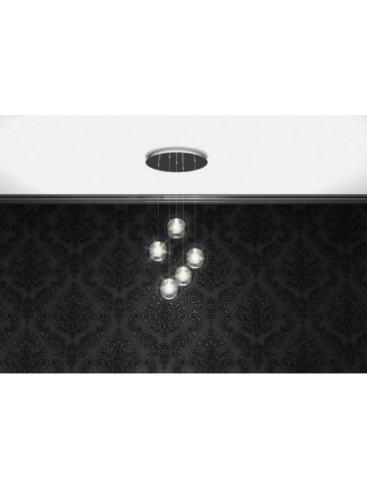 Modern glass chandelier 5 lights tpl 1098-s5tr