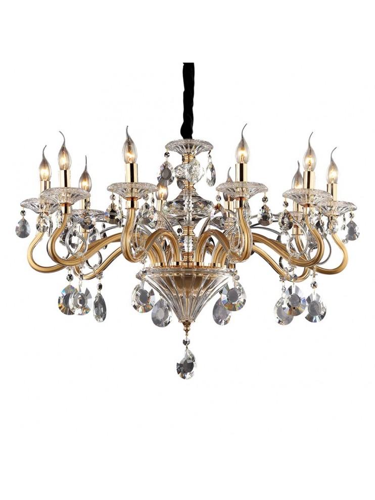 Lampadario cristallo classico 10 luci Negresco oro