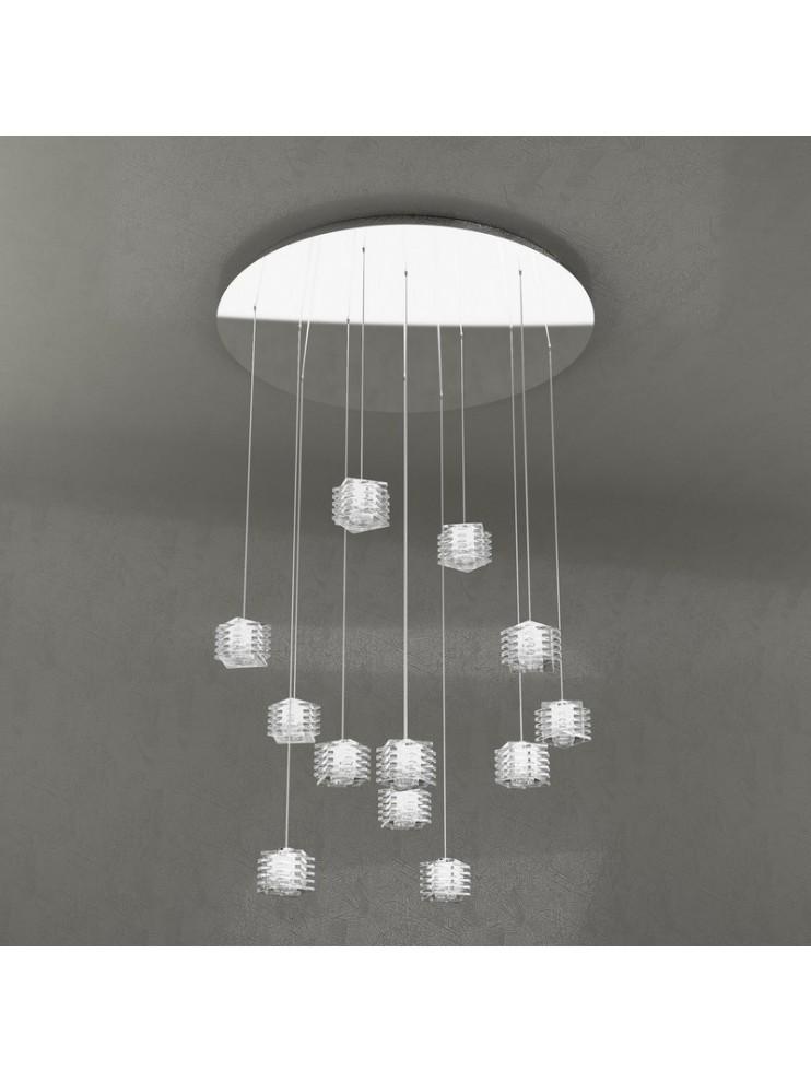 Modern chandelier 12 lights tpl design 1126-s12