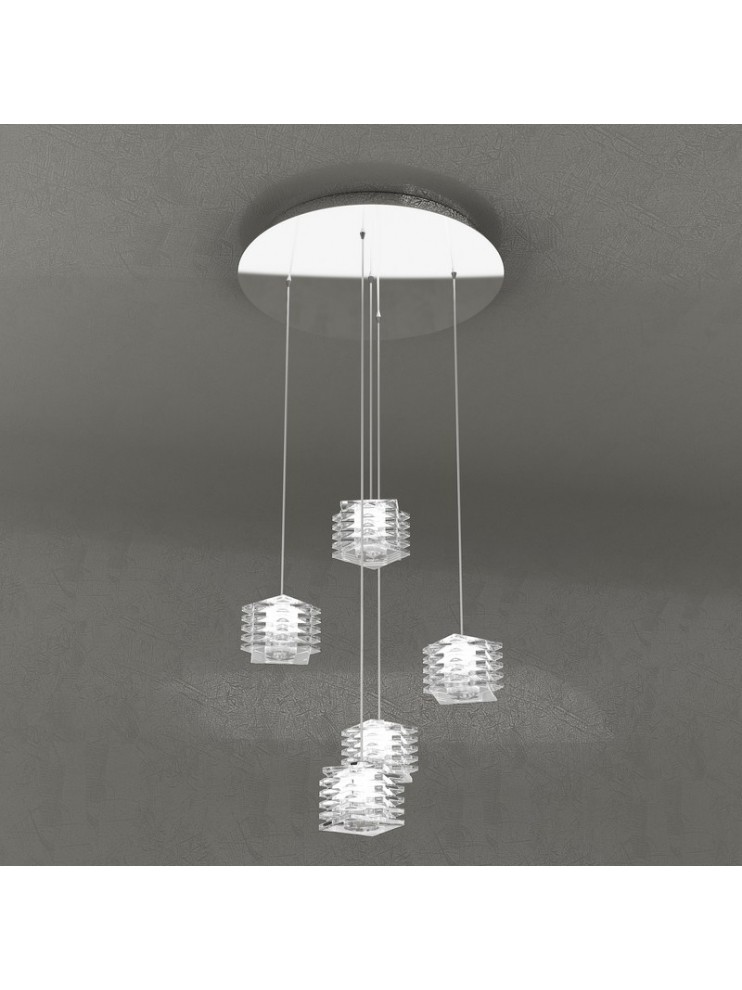 Modern chandelier 5 lights tpl design 1126-s5