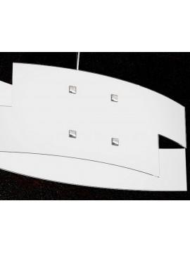 Lampadario moderno 1 luce in vetro tpl 1120/s55