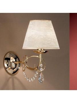 Applique classico con cristalli 1 luce 2553-ap1 oro
