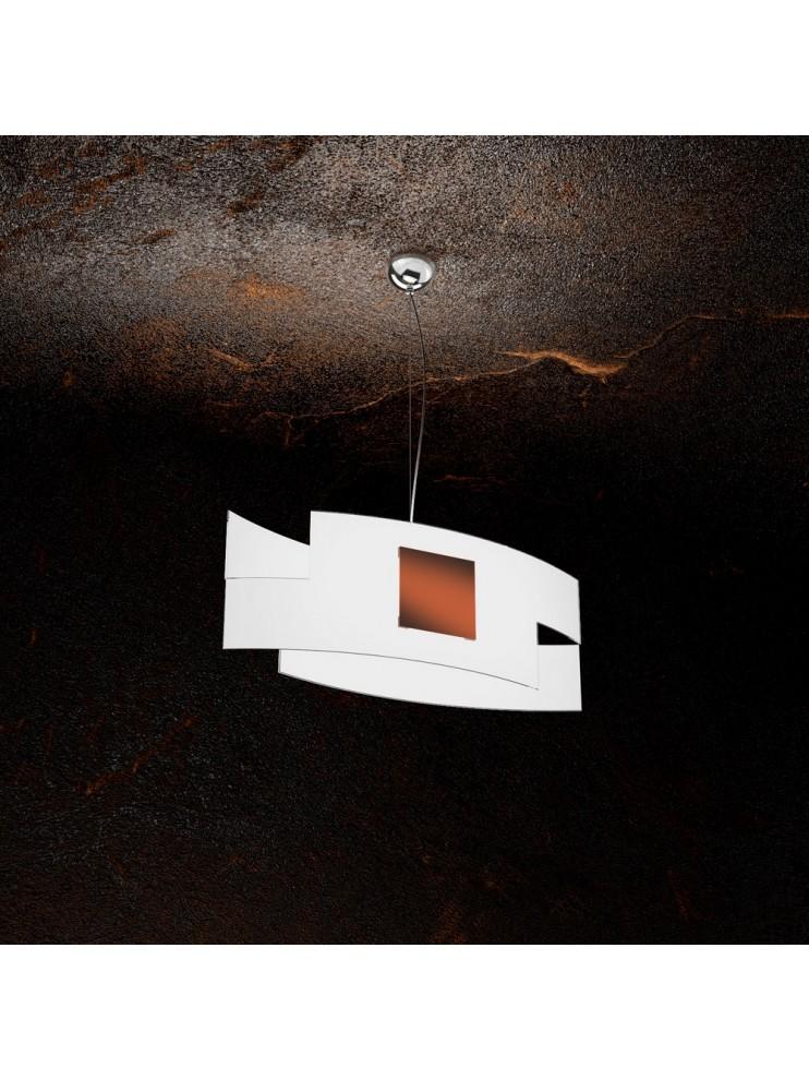 Modern chandelier 1 light in tpl glass 1121 / s55-co