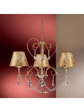 Lampadario classico con cristalli 3 luci 2553-3 oro