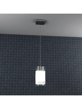 Modern chandelier 1 light with tpl glass 1104-s1