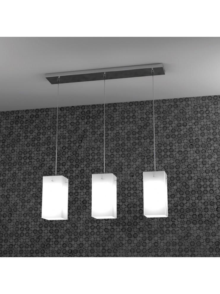 Lampadario moderno 3 luci con vetro tpl 1105-s3