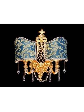 Applique in ottone classico Design Swarovsky 2 luci BGA 1590-AG2