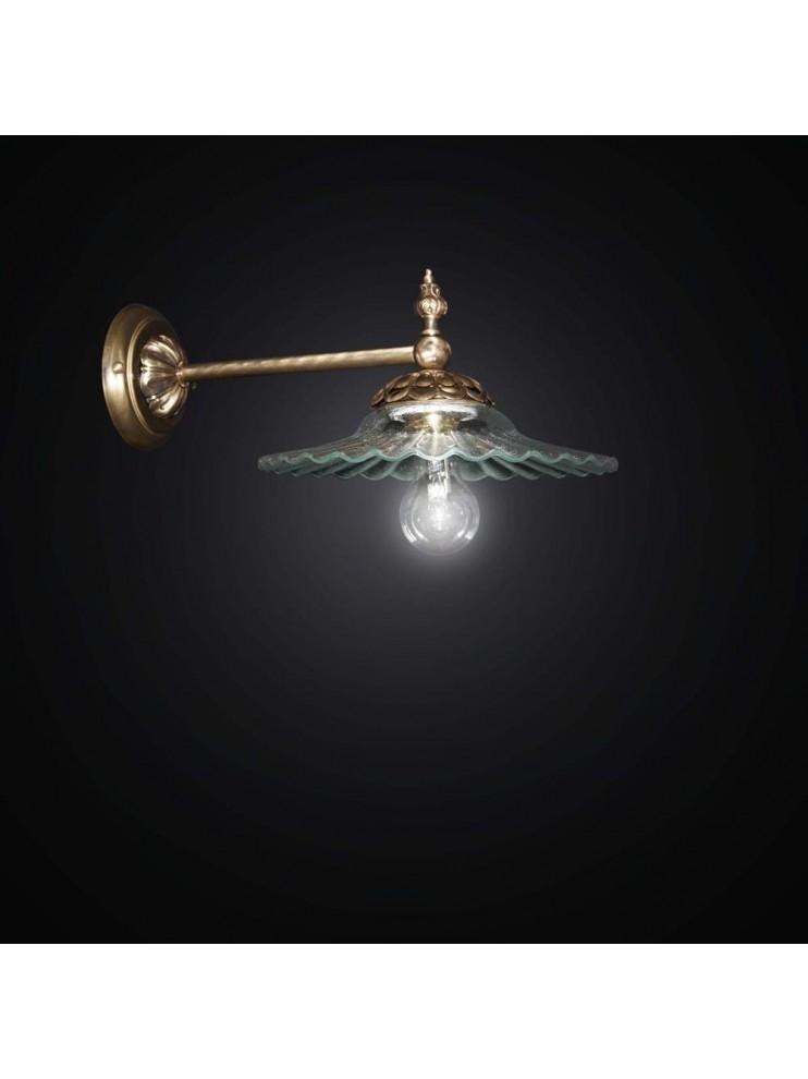 Applique classico in ottone 1 luce BGA 2437-A20
