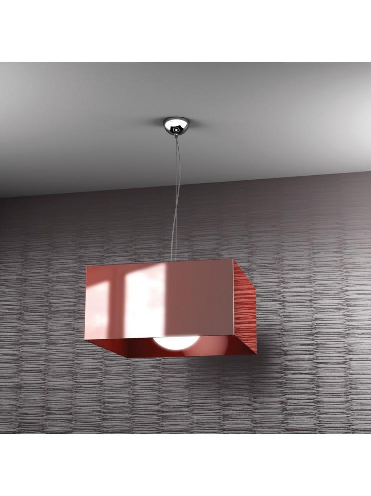 Modern chandelier 1 light red tpl 1111-s1ro